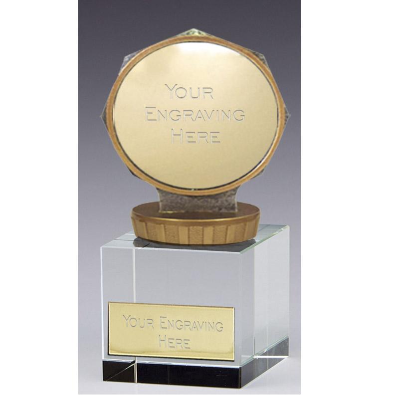 12cm 50mm Centre Holder Figure On Merit Award