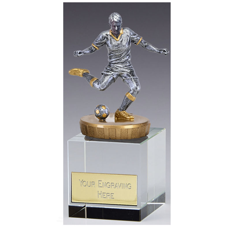 12cm Footballer Male Figure on Football Merit Award