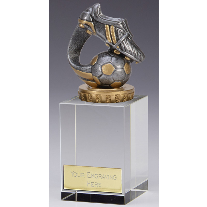 16cm Boot & Ball Wave Figure On Football Merit Award
