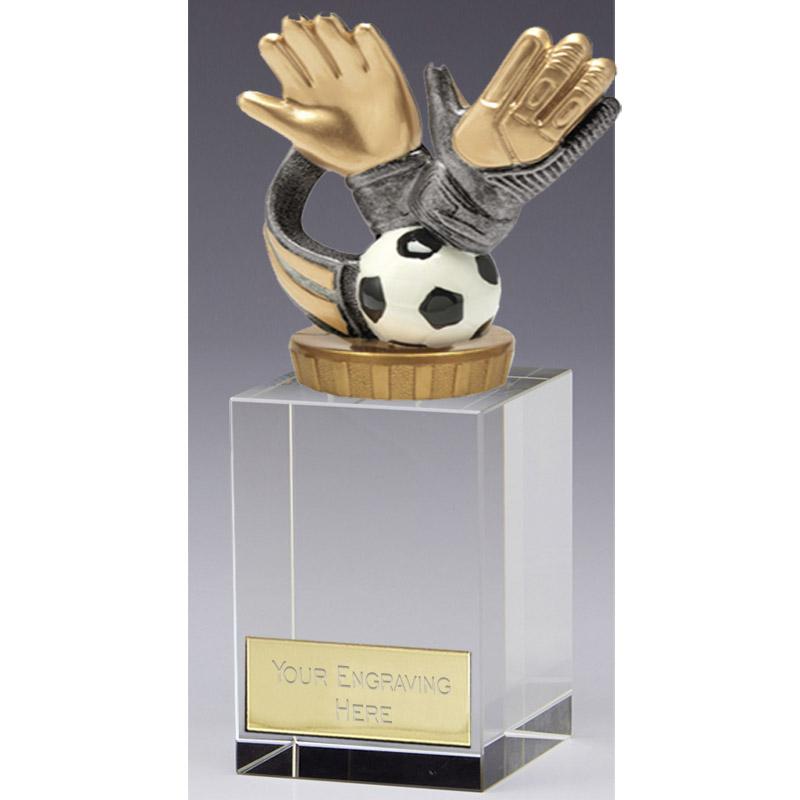 16cm Keeper Glove Figure On Football Merit Award