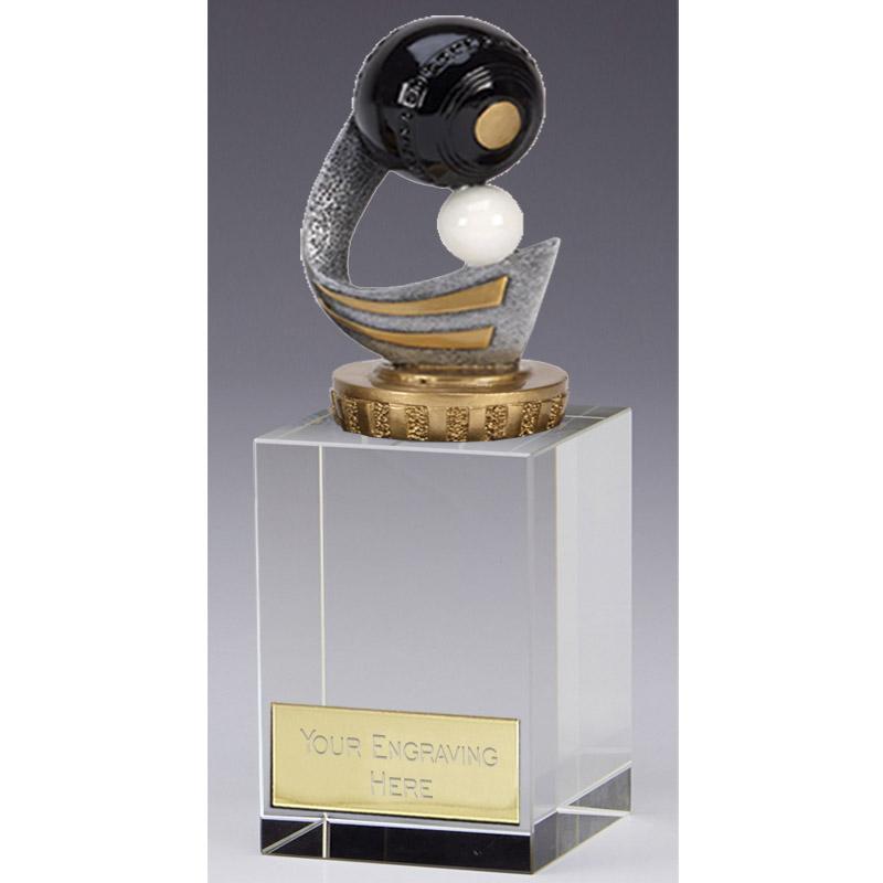 16cm Lawn Bowls Figure on Bowling Merit Award