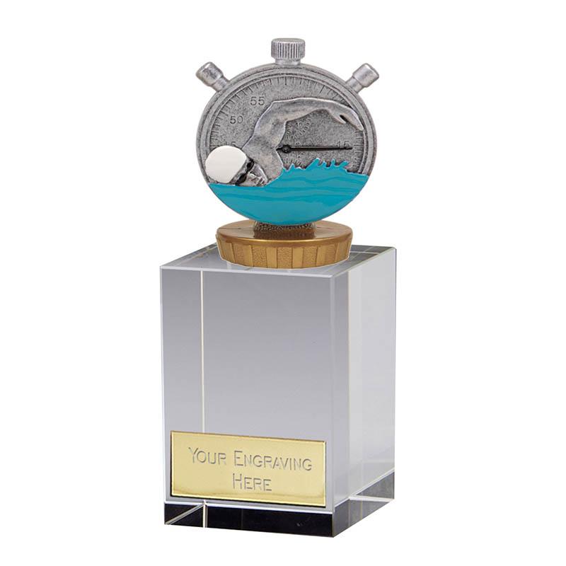16cm Swimming Figure On Merit Award