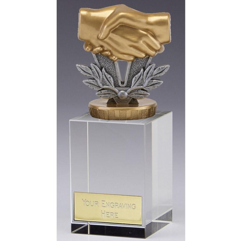 16cm Handshake Figure on Merit Award