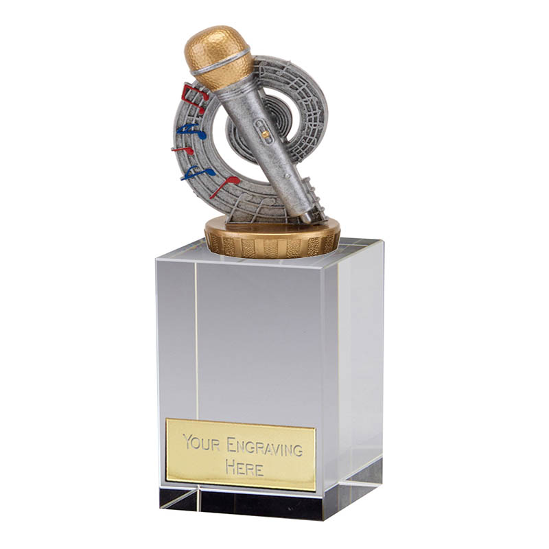 16cm Microphone Place Figure On Music Merit Award