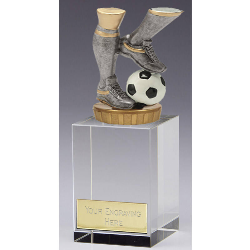 16cm Football Legs Figure on Football Merit Award