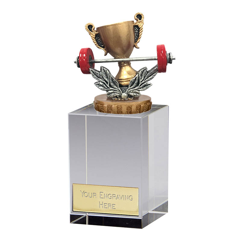 16cm Weightlifting Figure On Merit Award