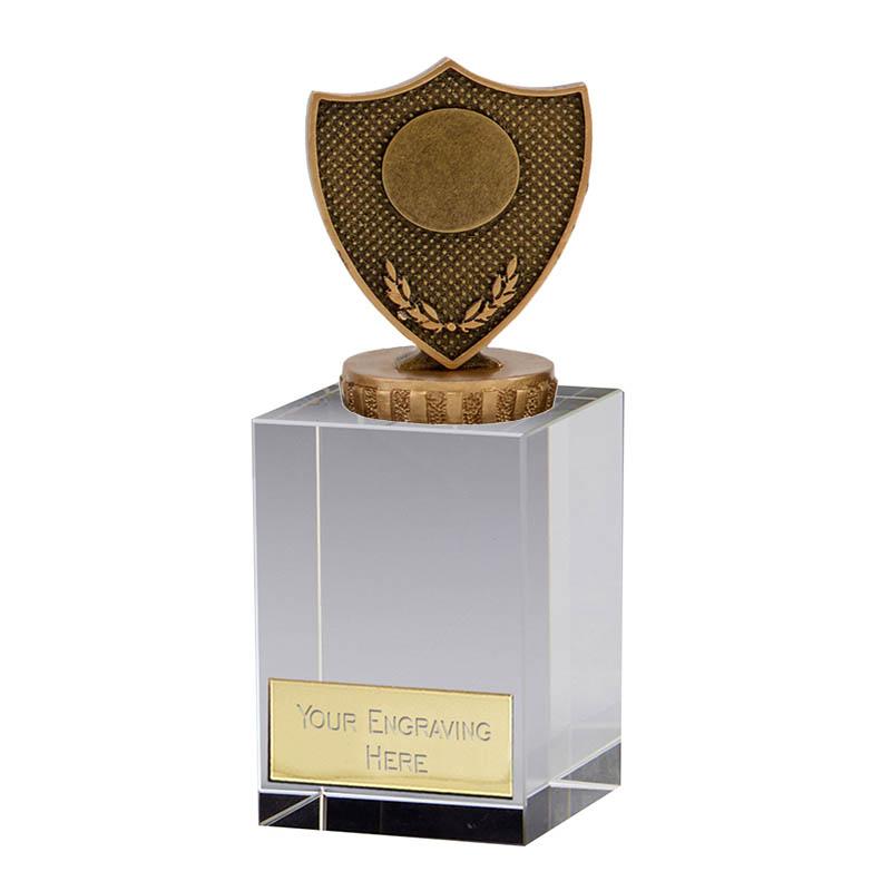 16cm Shield with Centre Figure on Merit Award