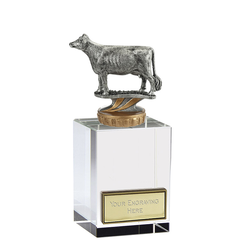 16cm 3D Cow Figure On Pets Merit Award