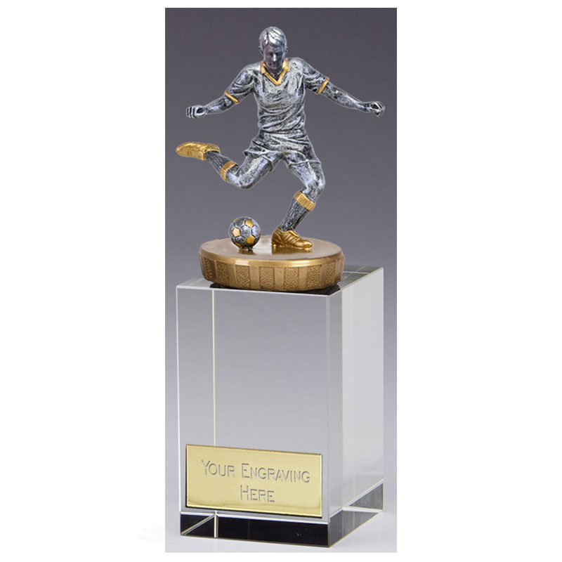 16cm Footballer Male Figure on Football Merit Award