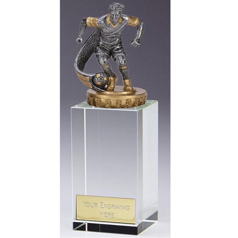17cm Football Player Figure on Football Merit Award