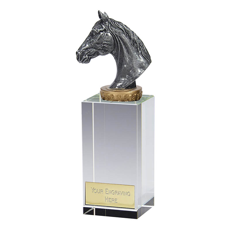 17cm Horse Head Figure On Horse Riding Merit Award
