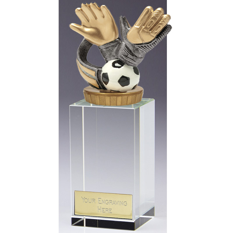 17cm Keeper Glove Figure on Football Merit Award