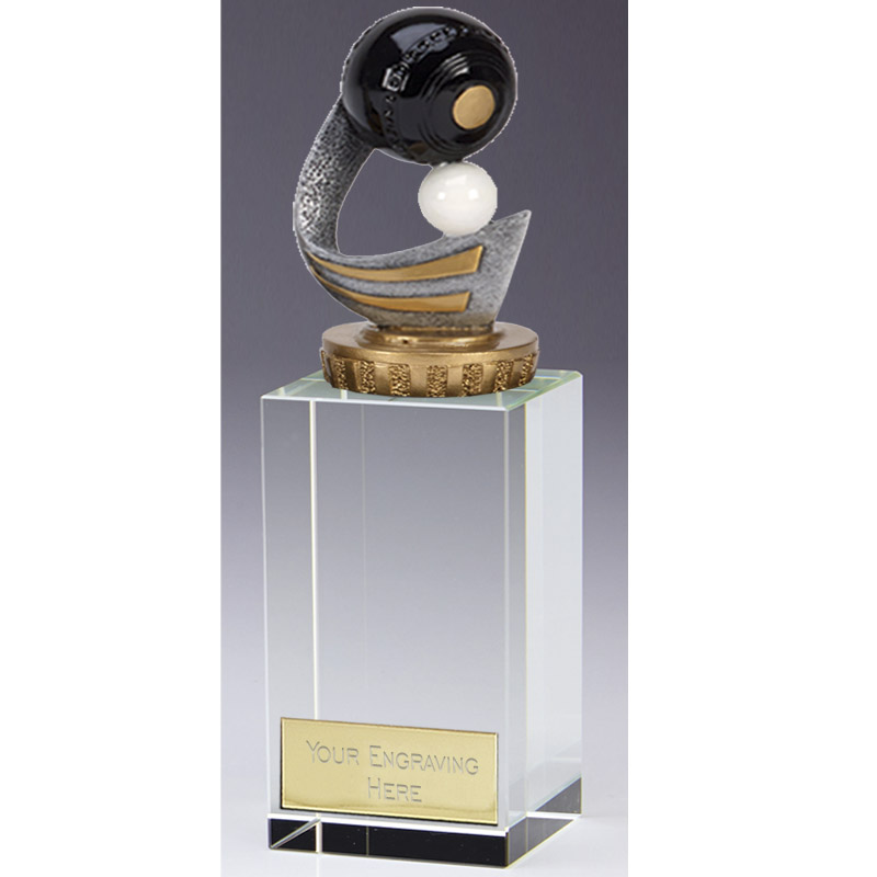 17cm Lawn Bowls Figure On Bowling Merit Award