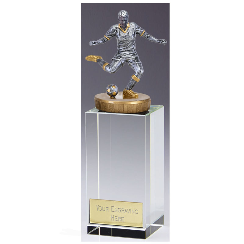 17cm Footballer Male Figure on Football Merit Award