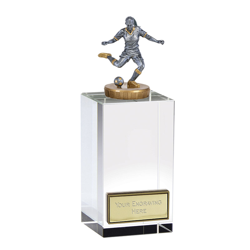 17cm Footballer Female Figure On Merit Award