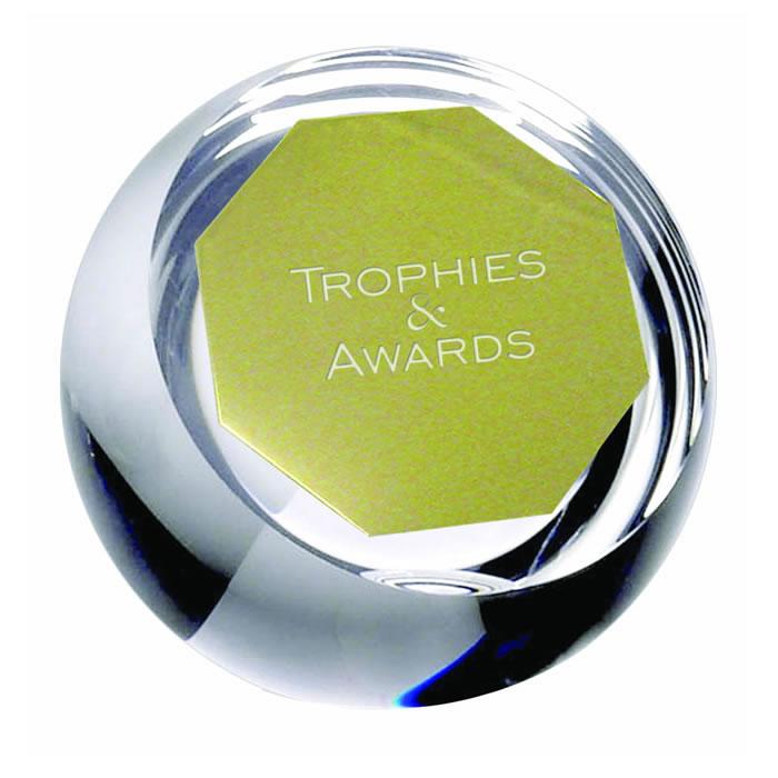 4 Inch Plain Orb Crystal Award