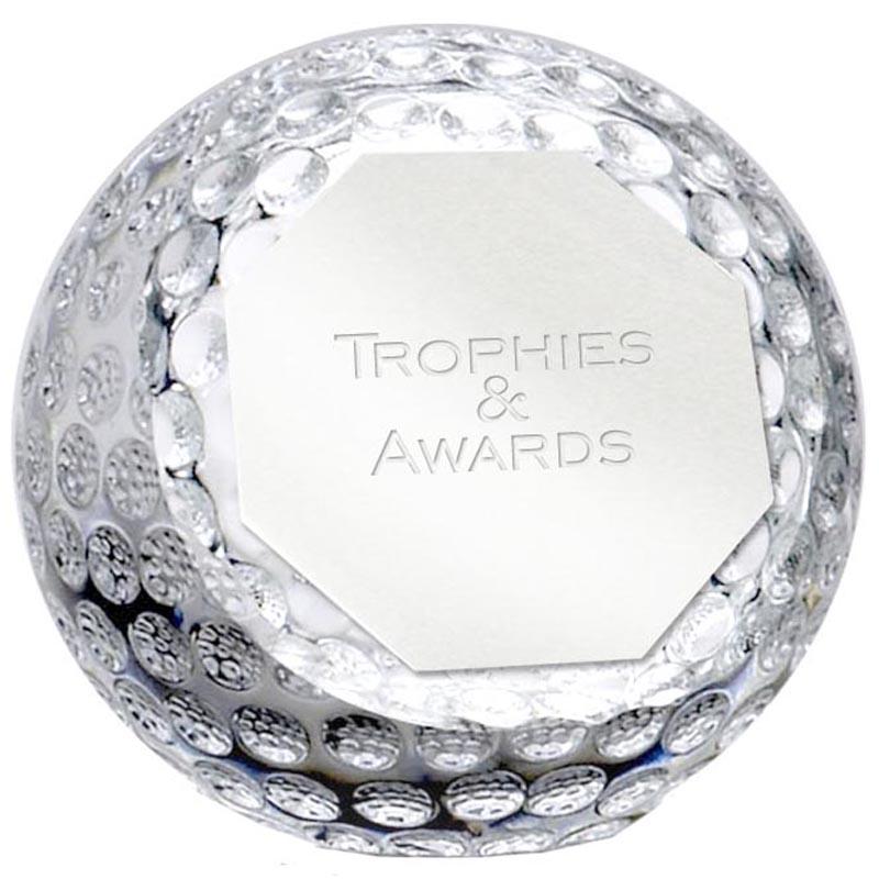 4 Inch Golf Orb Optical Crystal Award