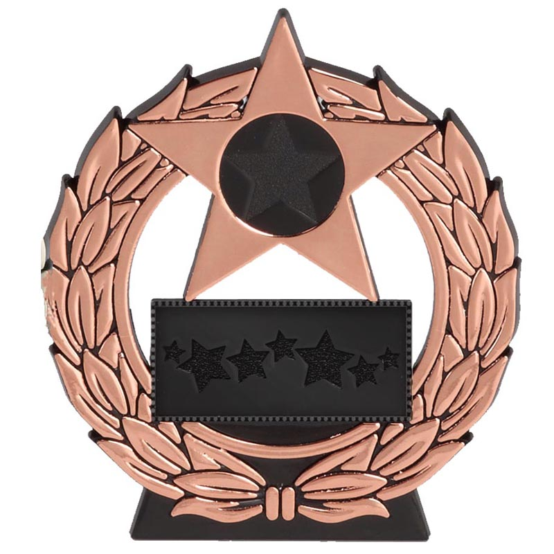 4 Inch Megastar Bronze Plaque Award