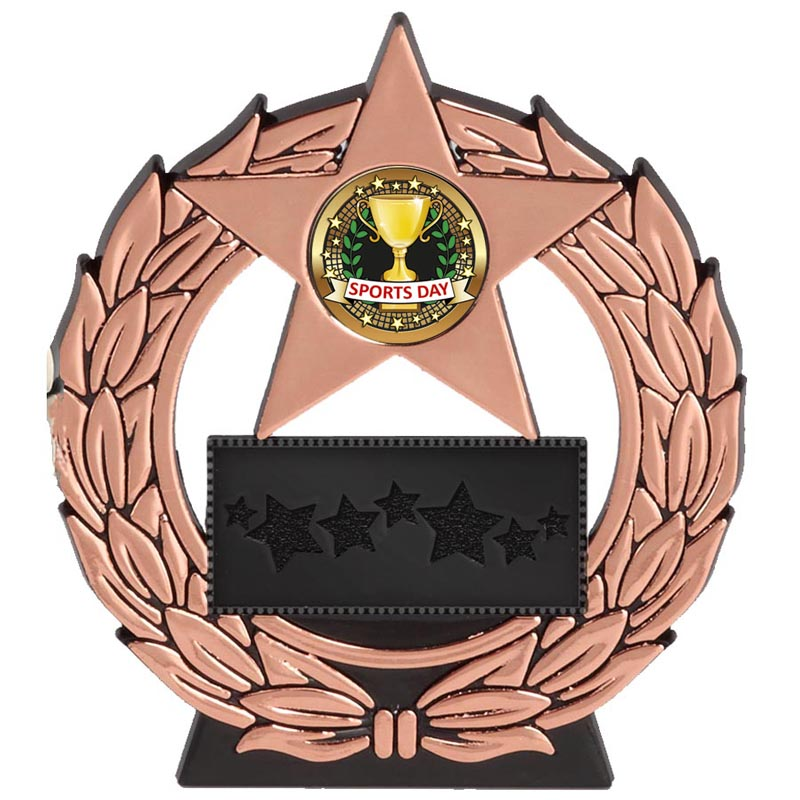 5 Inch Bronze Plaque Megastar Award