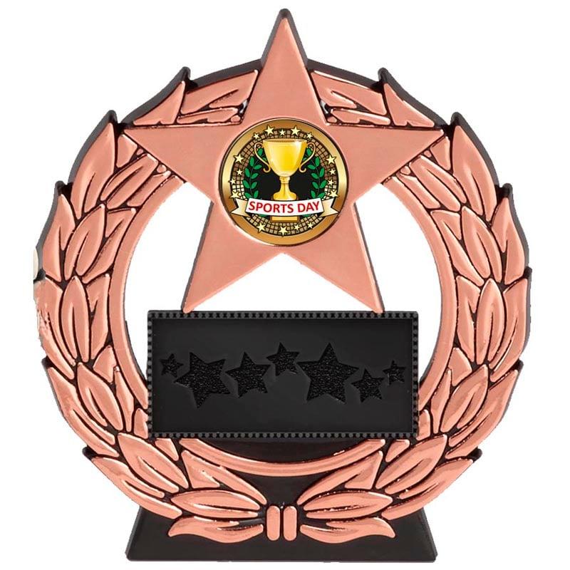 5 Inch Bronze Plaque Megastar Award