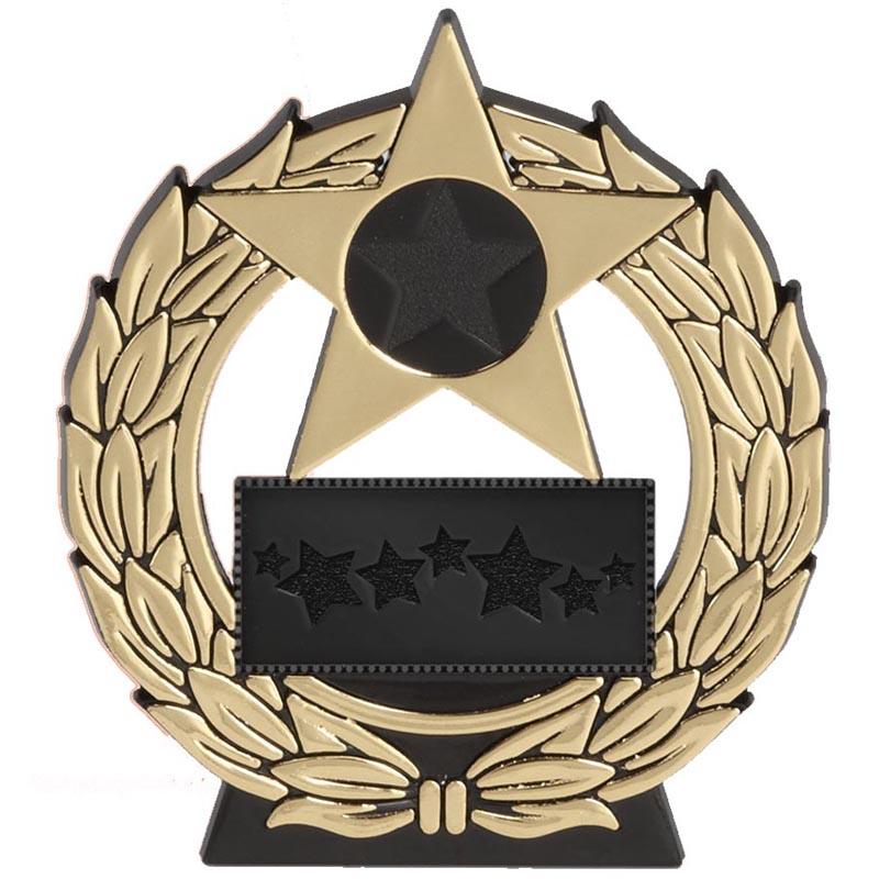 4 Inch Megastar Gold Plaque Award