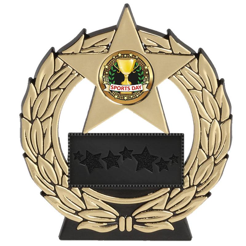 5 Inch Gold Plaque Megastar Award