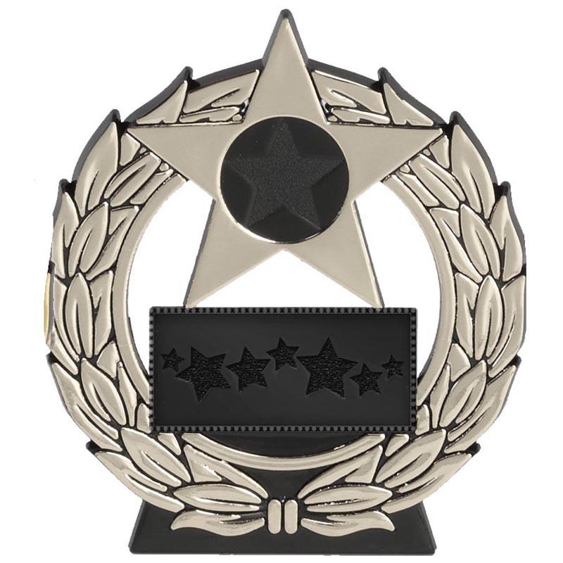 4 Inch Megastar Silver Plaque Award