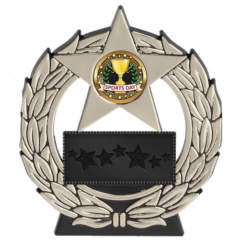 5 Inch Silver Plaque Megastar Award