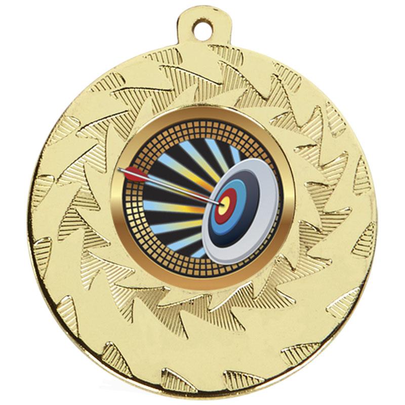 50mm Gold Target Archery Prism Medal