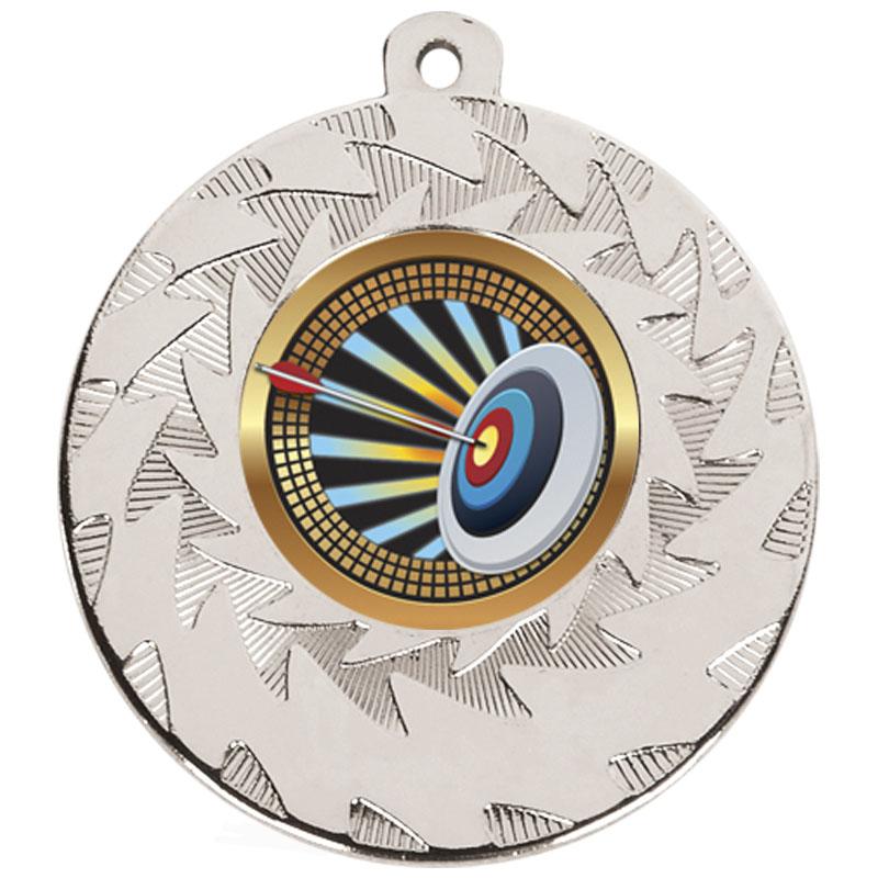 50mm Silver Target Archery Prism Medal