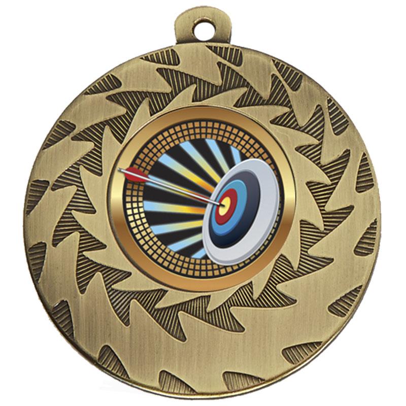 50mm Bronze Target Archery Prism Medal