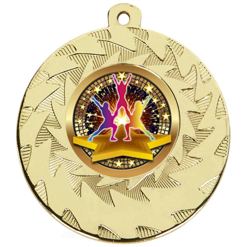 50mm Gold Dance Group Dance Prism Medal