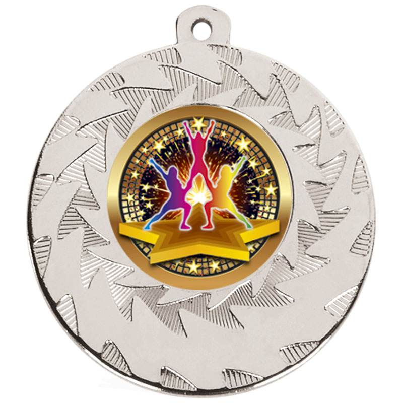 50mm Silver Dance Group Dance Prism Medal