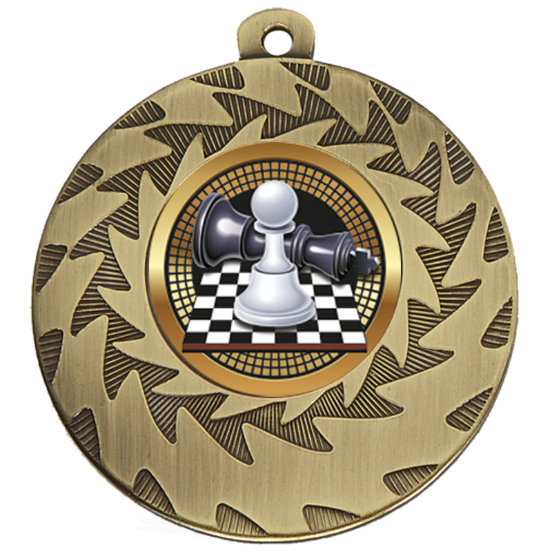 50mm Bronze Chess Prism Medal