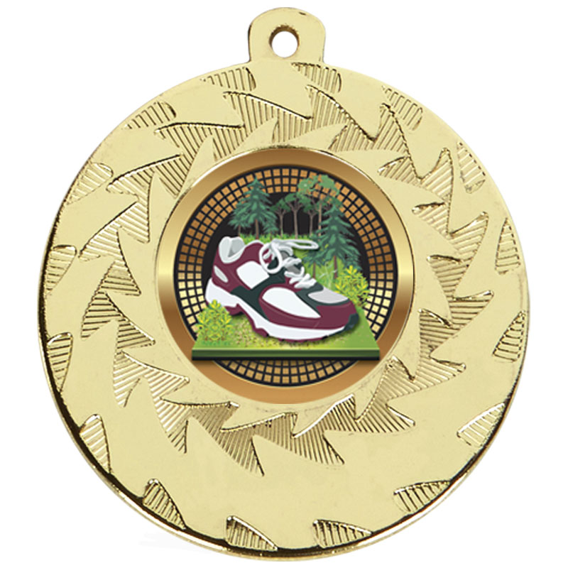 50mm Gold Trainer Running Prism Medal