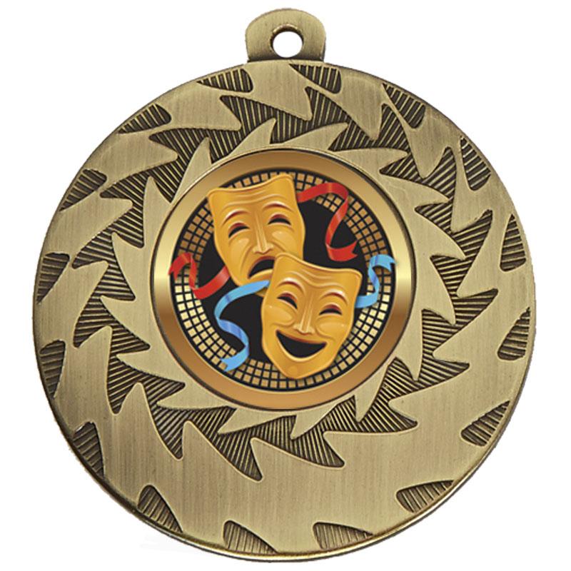 50mm Bronze Comedy & Tragedy Drama Prism Medal