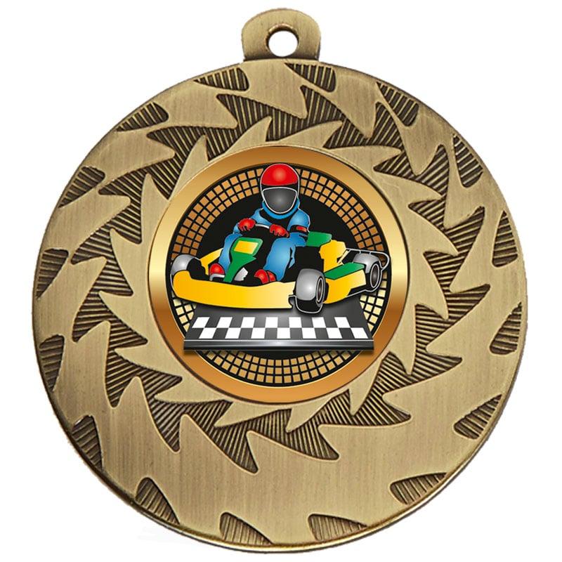 50mm Bronze Go Kart Motorsports Prism Medal