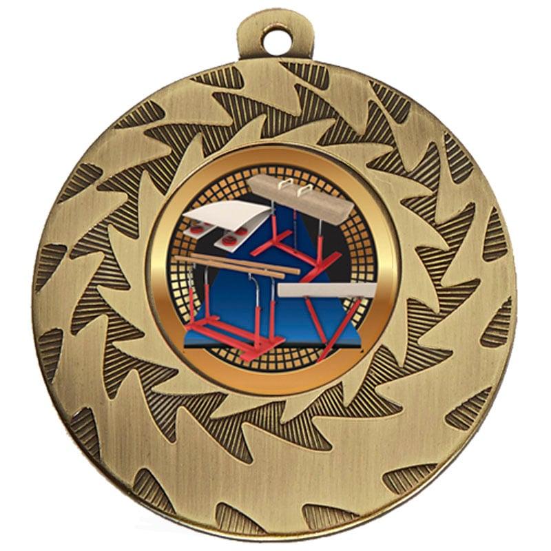 50mm Bronze Horse & Bars Gymnastics Prism Medal