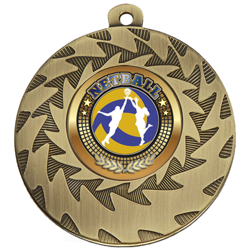 50mm Bronze Netball Prism Medal