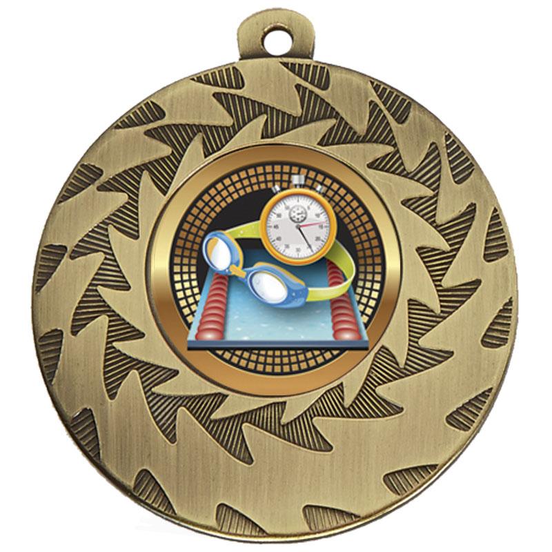 50mm Bronze Goggles & Stopclock Swimming Prism Medal