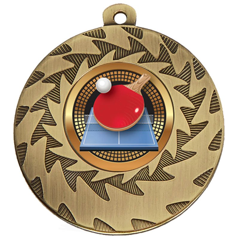 Bronze Ball & Bat Table Tennis Prism Medal