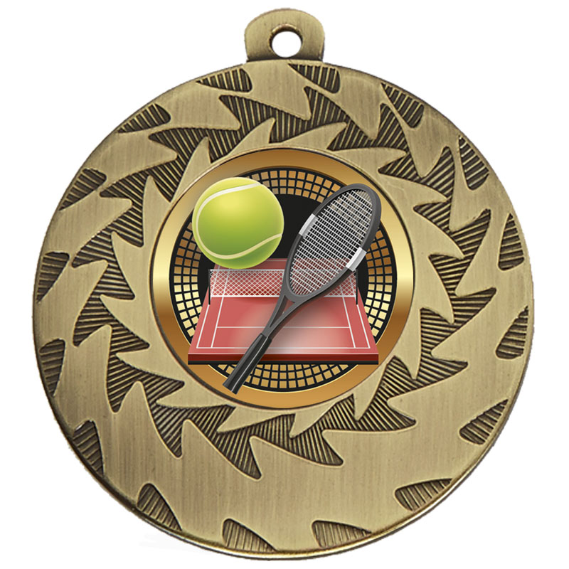 50mm Bronze Racket & Ball Tennis Prism Medal