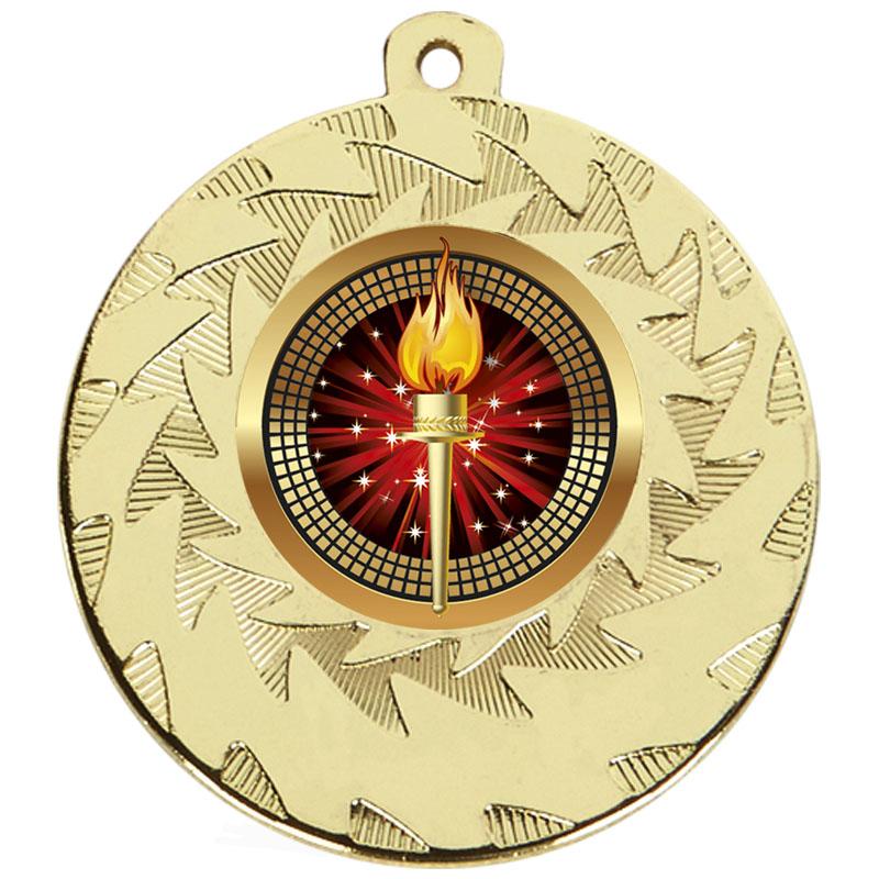50mm Gold Torch Prism Medal