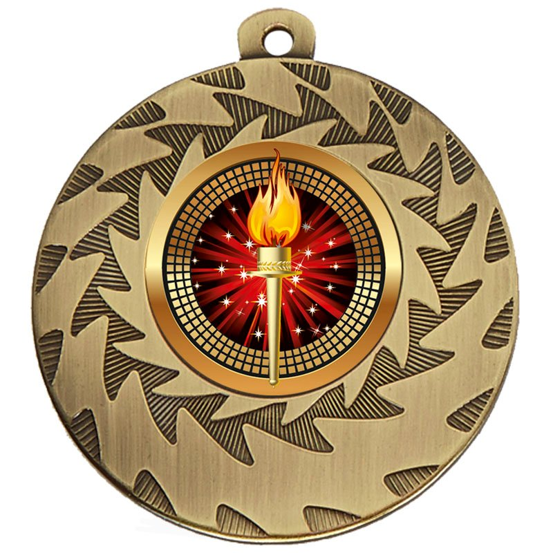 50mm Bronze Torch Prism Medal