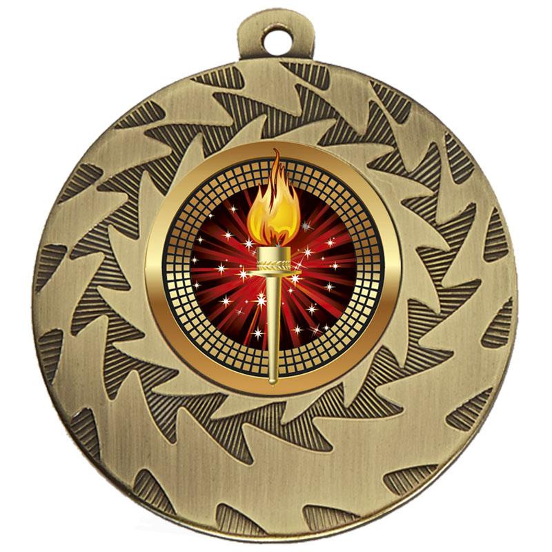 50mm Bronze Torch Prism Medal