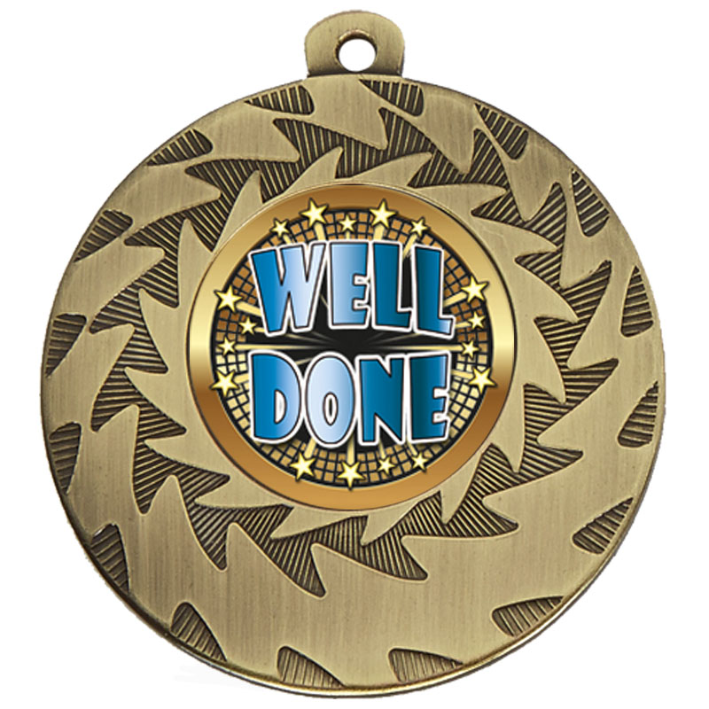 50mm Bronze Well Done Prism Medal