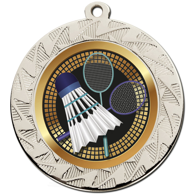 Silver Shuttlecock Prism Medal