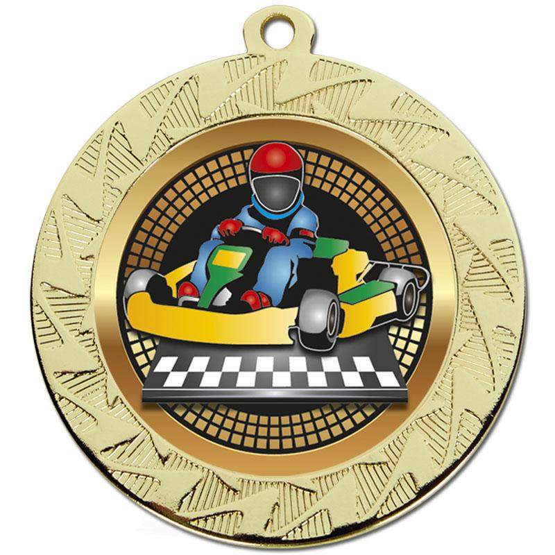 70mm Gold Go Kart Motorsports Prism Medal
