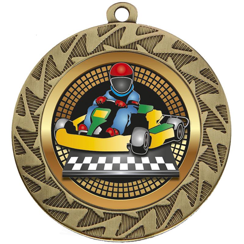 70mm Bronze Go Kart Motorsports Prism Medal