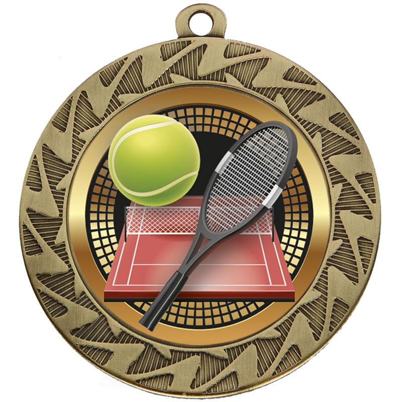 70mm Brozne Rocket & Ball Tennis Prism Medal